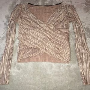 Rose gold Wrap Style Crop Top